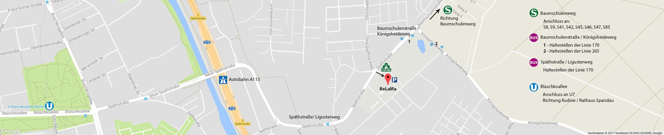 BeLaMa Filiale Berlin Anfahrt Google Maps