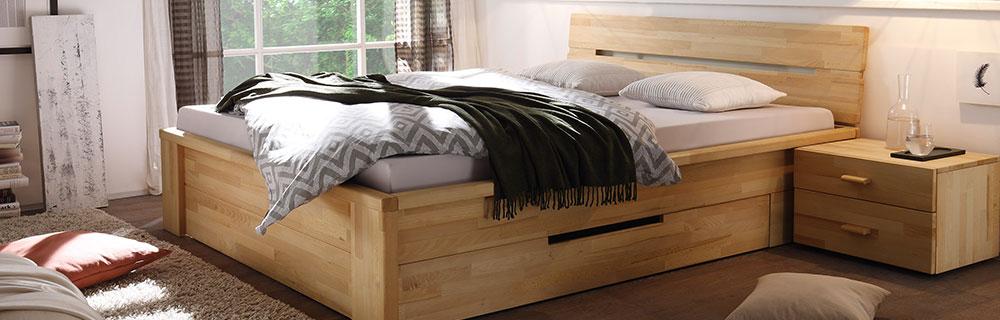 Woodlive Casetta, Bett mit Bettkästen in Berlin